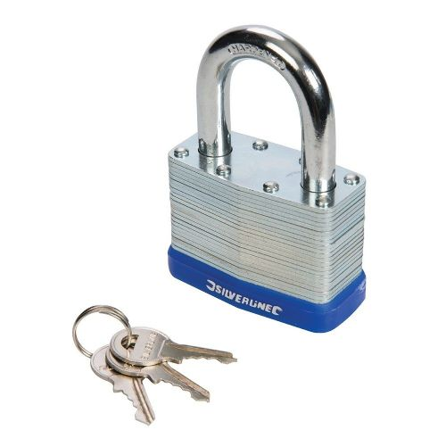 Silverline 590587 Laminated Padlock 65mm